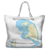Barbuda, West Indies Nautical Chart Tote Bag