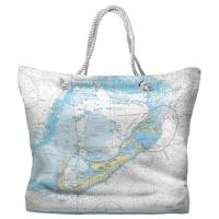 Bermuda Nautical Chart Tote Bag