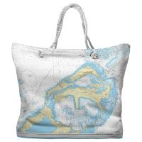 Eastern and Western Approaches to The Narrows, Bermuda Nautical Chart Tote Bag