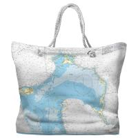 Eleuthera Island, Bahamas Nautical Chart Tote Bag