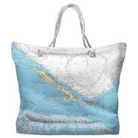 Exuma Islands, Bahamas Nautical Chart Tote Bag