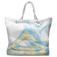 Five Fathom Hole, The Narrows, Saint George's Harbour, Bermuda Nautical Chart Tote Bag