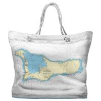 Grand Cayman, The Cayman Islands, West Indies Nautical Chart Tote Bag