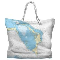 Great Abaco Island, Bahamas Nautical Chart Tote Bag