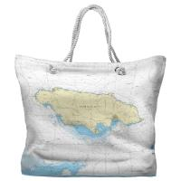 Jamaica, West Indies Nautical Chart Tote Bag