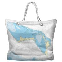 Little Bahama Bank, Grand Bahama, Abaco, Bahamas Nautical Chart Tote Bag