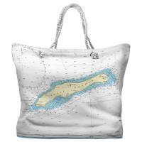 Little Cayman, The Cayman Islands, West Indies Nautical Chart Tote Bag