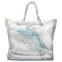 Little San Salvador Island, Cat Island, Bahamas Nautical Chart Tote Bag