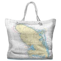 Martinique, West Indies Nautical Chart Tote Bag