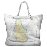 Montserrat, West Indies Nautical Chart Tote Bag
