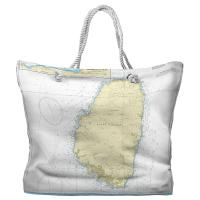 Saint Vincent, West Indies Nautical Chart Tote Bag