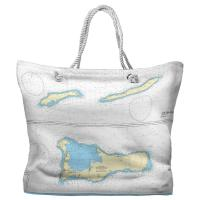 The Cayman Islands, West Indies Nautical Chart Tote Bag