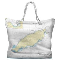 Tobago, West Indies Nautical Chart Tote Bag