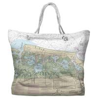 NJ: Wildwood, NJ Nautical Chart Tote Bag