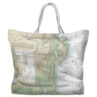 MA: Green Harbor, MA Nautical Chart Tote Bag