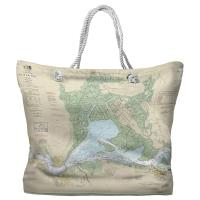 CA: Suisun Bay, CA Nautical Chart Tote Bag