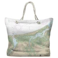 MA: Newburyport Harbor and Plum Island Sound, MA Nautical Chart Tote Bag