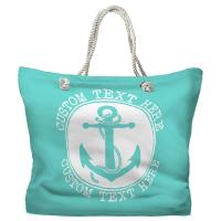 Personalized Anchor Tote Bag - Pantone 3242 C