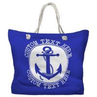 Personalized Anchor Tote Bag - Pantone 2126 C