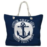 Personalized Anchor Tote Bag - Pantone 2767 C