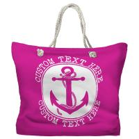 Personalized Anchor Tote Bag - Pantone Pink C