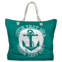 Personalized Anchor Tote Bag - Pantone 7717 C