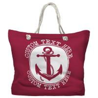 Personalized Anchor Tote Bag - Pantone 194 C