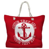Personalized Anchor Tote Bag - Pantone 3546 C