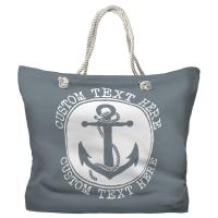 Personalized Anchor Tote Bag - Pantone 430 C