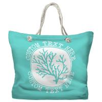 Personalized Coral Tote Bag - Pantone 3242 C