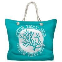 Personalized Coral Tote Bag - Pantone 2397 C
