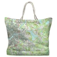 MA: North Andover, MA Topo Map Tote Bag
