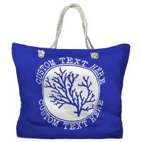Personalized Coral Tote Bag - Pantone 2126 C