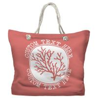 Personalized Coral Tote Bag - Pantone 2030 C