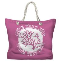 Personalized Coral Tote Bag - Pantone 3582 C