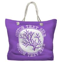 Personalized Coral Tote Bag - Pantone 2083 C