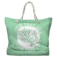 Personalized Coral Tote Bag - Pantone 344 C