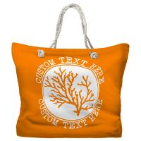 Personalized Coral Tote Bag - Pantone 151 C