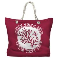 Personalized Coral Tote Bag - Pantone 194 C