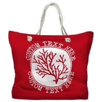 Personalized Coral Tote Bag - Pantone 3546 C