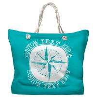 Personalized Compass Rose Tote Bag - Pantone 2397 C