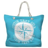 Personalized Compass Rose Tote Bag - Pantone 637 C