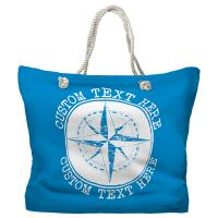 Personalized Compass Rose Tote Bag - Pantone 3538 C