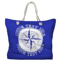 Personalized Compass Rose Tote Bag - Pantone 2126 C