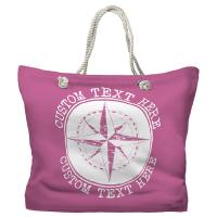 Personalized Compass Rose Tote Bag - Pantone 3582 C