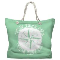 Personalized Compass Rose Tote Bag - Pantone 344 C