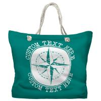 Personalized Compass Rose Tote Bag - Pantone 7717 C
