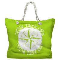 Personalized Compass Rose Tote Bag - Pantone 2290 C