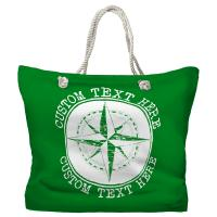 Personalized Compass Rose Tote Bag - Pantone 2258 C