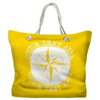 Personalized Compass Rose Tote Bag - Pantone 012 C